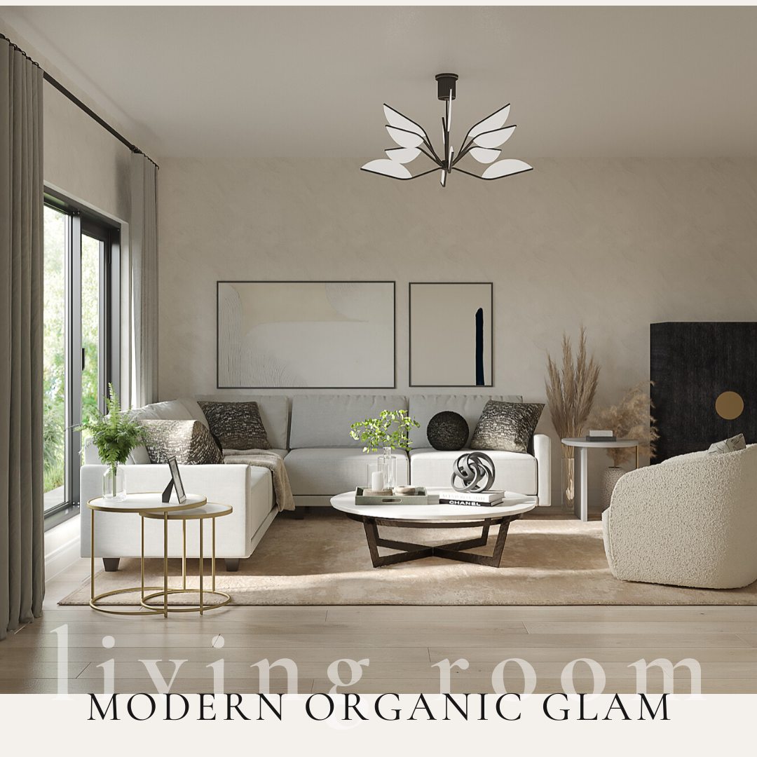 Modern Organic Glam Living Room Alana Frailey Interior Design
